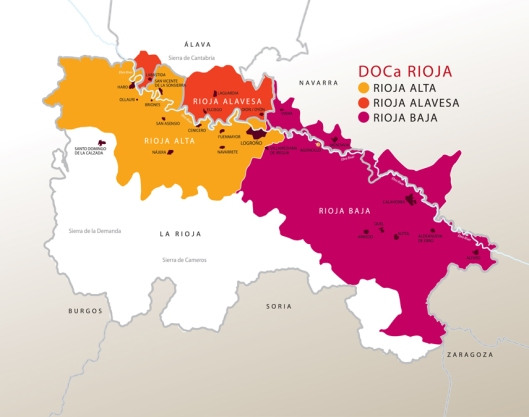 Denominacion De Origen Calificada Rioja Regions Map