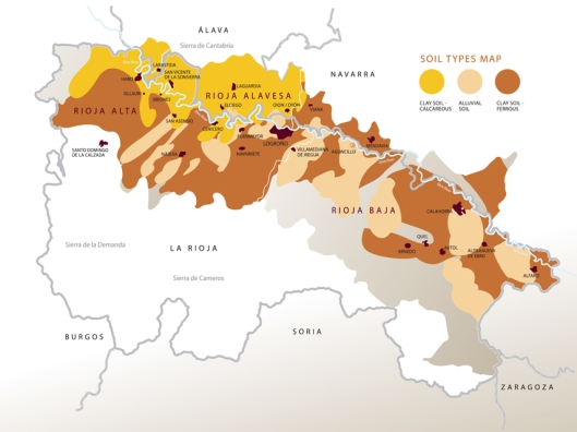 Denominacion De Origen Calificada Rioja Soil Types Map